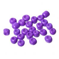 100 grams 6/0 Purple Glass Seed Beads Round About 4mm Dia, Hole: Approx 1.2mm,